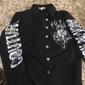 Tops - Button down rock n roll shirt